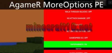 Мод AgameR MoreOptions PE [0.10.x]