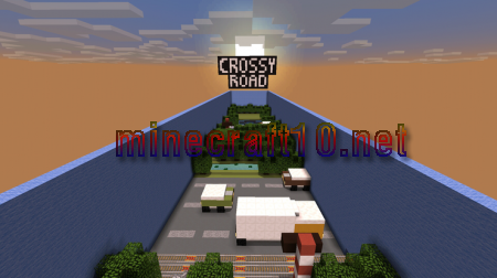 Карта Crossy Road [Parkour/Minigame]