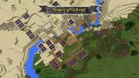 майнкрафт карта деревня в горах