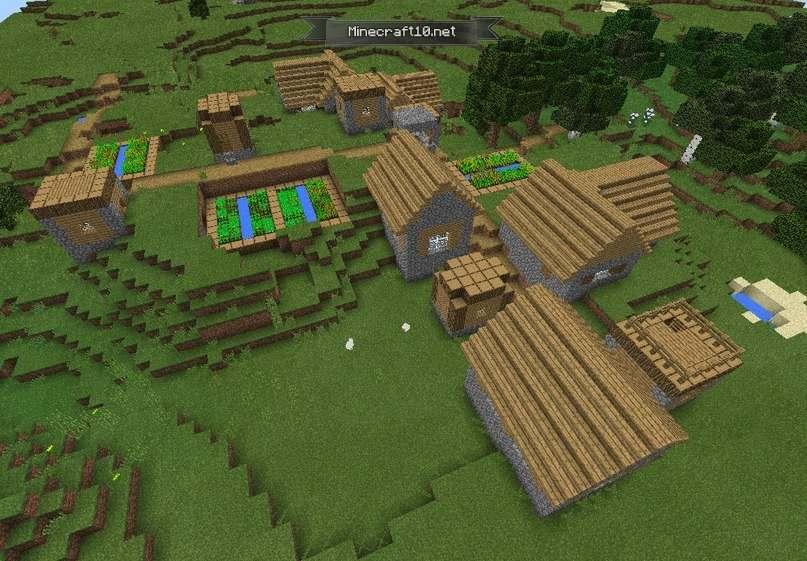 майнкрафт сиды на деревню #8