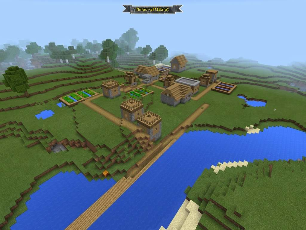 майнкрафт сиды на деревню #1