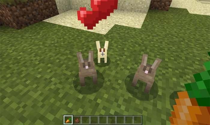Как приручить кролика в minecraft