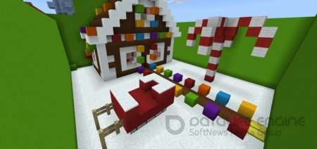 Карта «Find the Button:Christmas Edition» для Minecraft 1.2