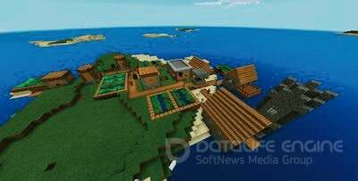 Tribal Village on Island Minecraft PE Сид 1.2.8