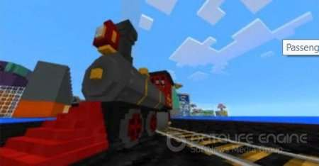 Passenger Train Minecraft PE Аддон 1.2.8