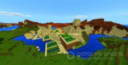 Village with Treasure Chest MCPE Сид 1.2.8