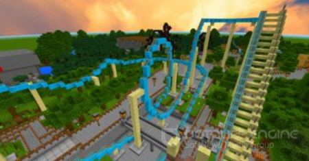 Biggest Amusement Park Minecraft PE Map 1.2.9