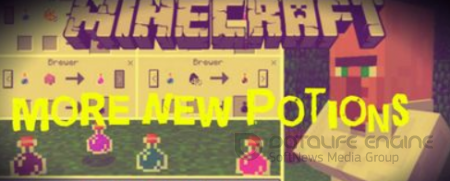 More New Potions Minecraft PE Mod 1.3.0, 1.2.13